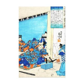 退職したな皇帝Gotoba 1844年 キャンバスプリント