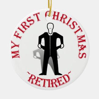退職したな私の初めてのクリスマス セラミックオーナメント