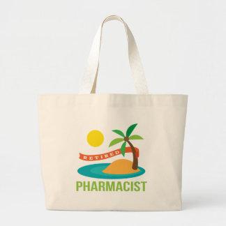 退職したな薬剤師のビーチ ラージトートバッグ