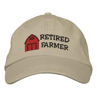 退職したな農家によって刺繍される帽子 刺繍入りキャップ