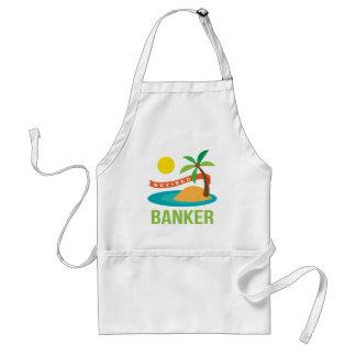 退職したな銀行家のビーチ スタンダードエプロン