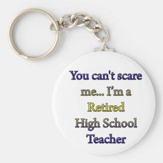 退職したな高等学校の先生 ベーシック丸型缶キーホルダー