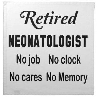退職したなNeonatologist仕事無し時計無し心配無し ナプキンクロス