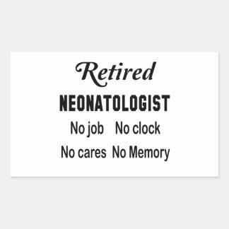 退職したなNeonatologist仕事無し時計無し心配無し 長方形シール