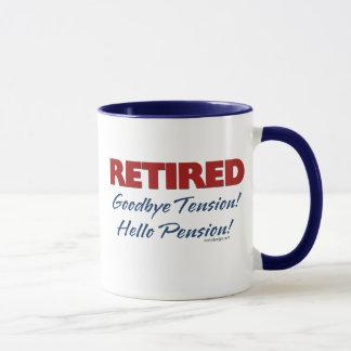 退職した: さようなら張力こんにちは年金! マグカップ