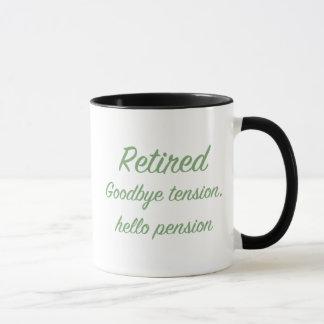 退職した: さようなら張力、こんにちは年金 マグカップ