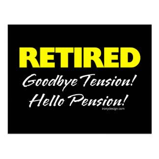 退職した: さようなら張力 ポストカード
