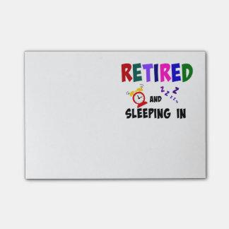 退職した、眠ります ポストイット