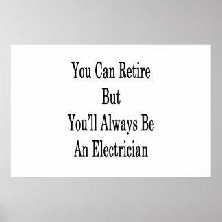 退職できます電気技師常にです ポスター