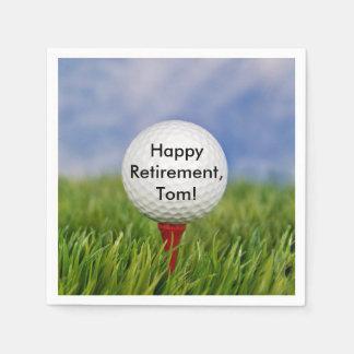 退職のためのティーのゴルフ・ボール スタンダードカクテルナプキン