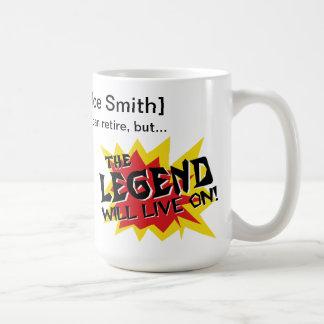 退職のギフトの伝説は住んでいます コーヒーマグカップ