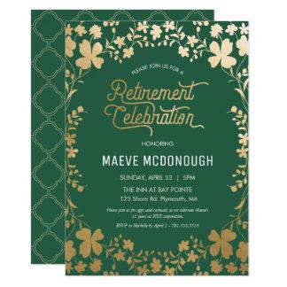 退職のパーティの招待状、お祝いの招待 カード