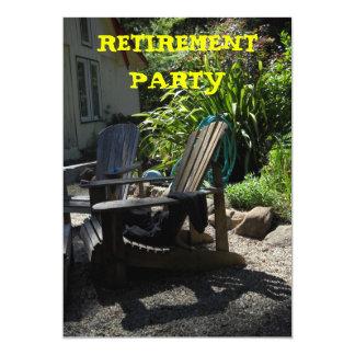 退職のパーティの招待状 カード