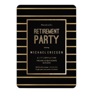 退職のパーティの招待状-、上品カスタマイズ カード