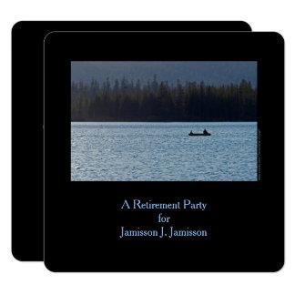 退職のパーティの招待状、漁師および息子 カード