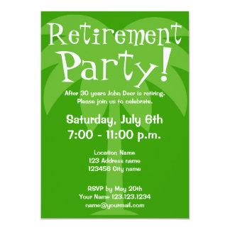 退職のパーティの招待状 12.7 X 17.8 インビテーションカード