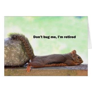 退職のユーモアのリス グリーティングカード