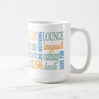 退職の単語およびアドバイス コーヒーマグカップ