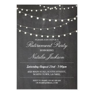 退職の招待状のチョークエレガントなライト招待 カード