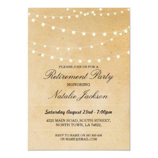 退職の招待状のヴィンテージのひもライト招待 カード