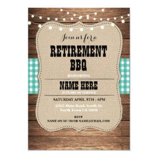 退職の招待状の退職したなパーティBBQの招待 カード