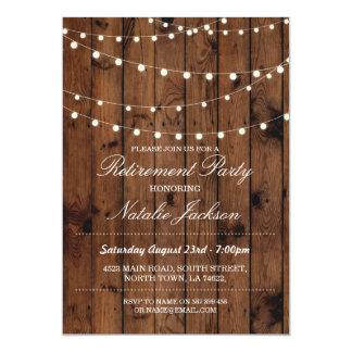 退職の招待状木製のエレガントなライト招待 12.7 X 17.8 インビテーションカード
