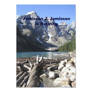 退職の発表、mountains湖の流木 カード