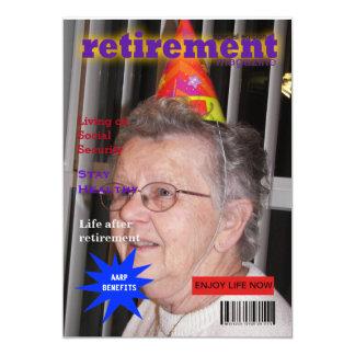 退職の雑誌 12.7 X 17.8 インビテーションカード