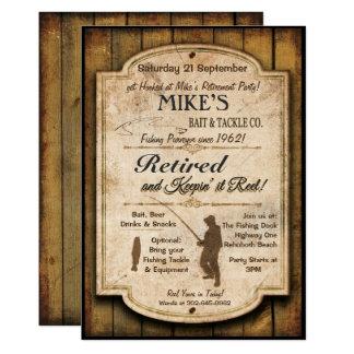 退職の魚釣りのパーティの招待状 カード
