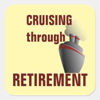 退職の黄色によって巡航 スクエアシール