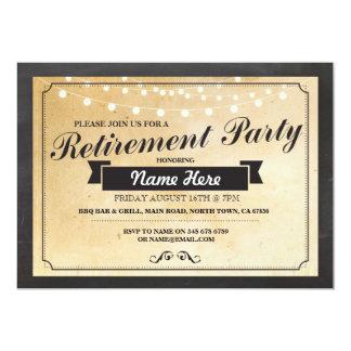 退職パーティのヴィンテージの退職したなペーパー招待状 カード