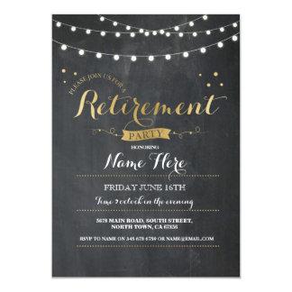 退職パーティのヴィンテージの退職したな黒板の招待 カード