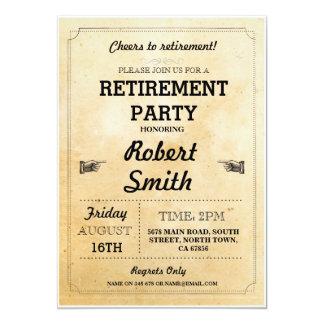 退職パーティの素朴で退職したな応援BBQの招待 カード