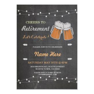 退職パーティーのチョークビール招待への応援 カード