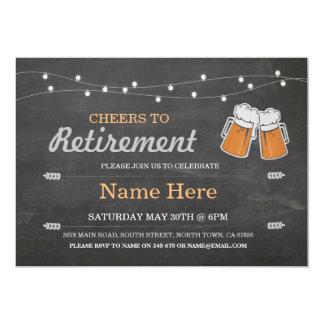 退職パーティーのチョークビール招待状への応援 カード