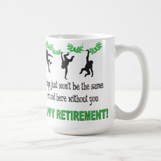 退職パーティーはおもしろマグカップをまねます コーヒーマグカップ
