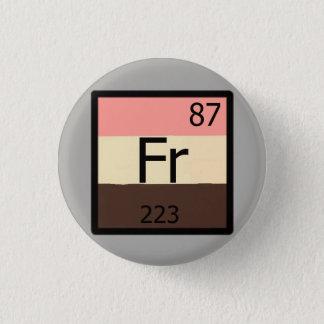 送り装置のフランシウムの周期表のFeedist Pin 缶バッジ