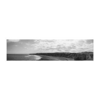 送風ビーチのパノラマ キャンバスプリント