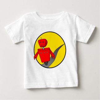 逃亡のロボットベビーのTシャツ ベビーTシャツ