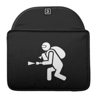 逃走IのピクトグラムのMacBookのプロ袖 MacBook Proスリーブ
