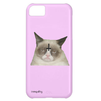 逆さまの十字猫のiphone 5猫の例 iPhone5Cケース