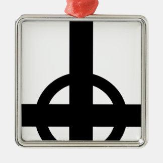 逆さまの十字 メタルオーナメント