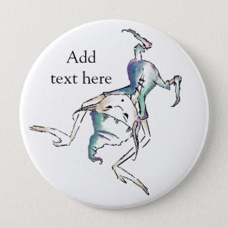 逆さまの妖精/小悪魔ボタンは文字を所有するために加えます 10.2CM 丸型バッジ