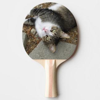 逆さまの虎猫の卓球ラケット 卓球ラケット