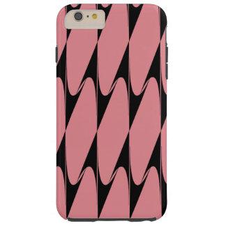逆にされたシェブロンの黒いピンクのモダンなiPhoneの箱2 Tough iPhone 6 Plus ケース