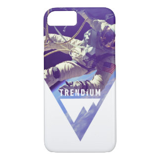 逆にされた三角形のTrendiumの確実な宇宙飛行士 iPhone 8/7ケース