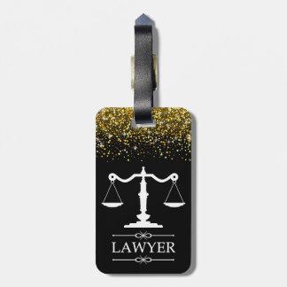 逆の文字が付いている正義の荷物のラベルのスケール ラゲッジタグ