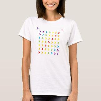 逆の虹のシェブロン Tシャツ