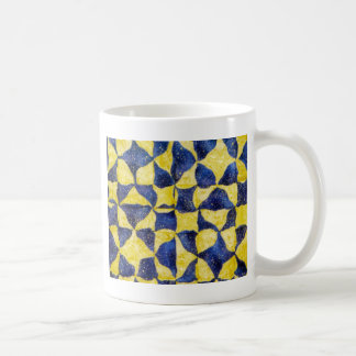 逆の複雑な星のキルトのブロック コーヒーマグカップ