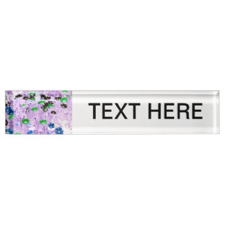 逆ガーベラのデイジー分野の多色のな花 デスクネームプレート